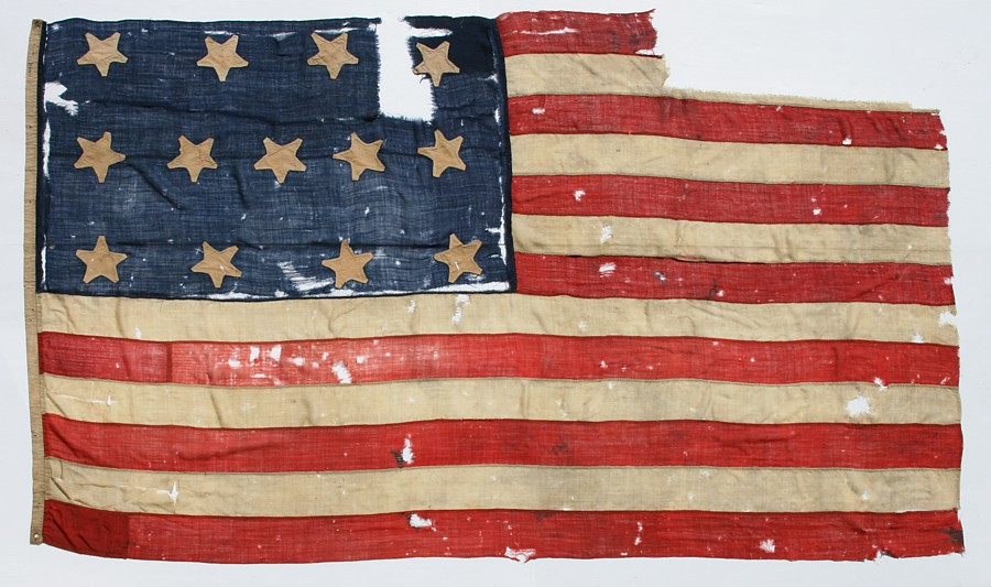 Jeff bridgman antique flags and painted furniture antique antique american flag with 13 stars an extraordinary survivor of the 1820 1840 period publicscrutiny Image collections