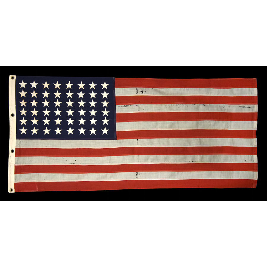 Jeff bridgman antique flags and painted furniture 48 star us 48 star us navy small boat ensign made at mare island california during publicscrutiny Choice Image