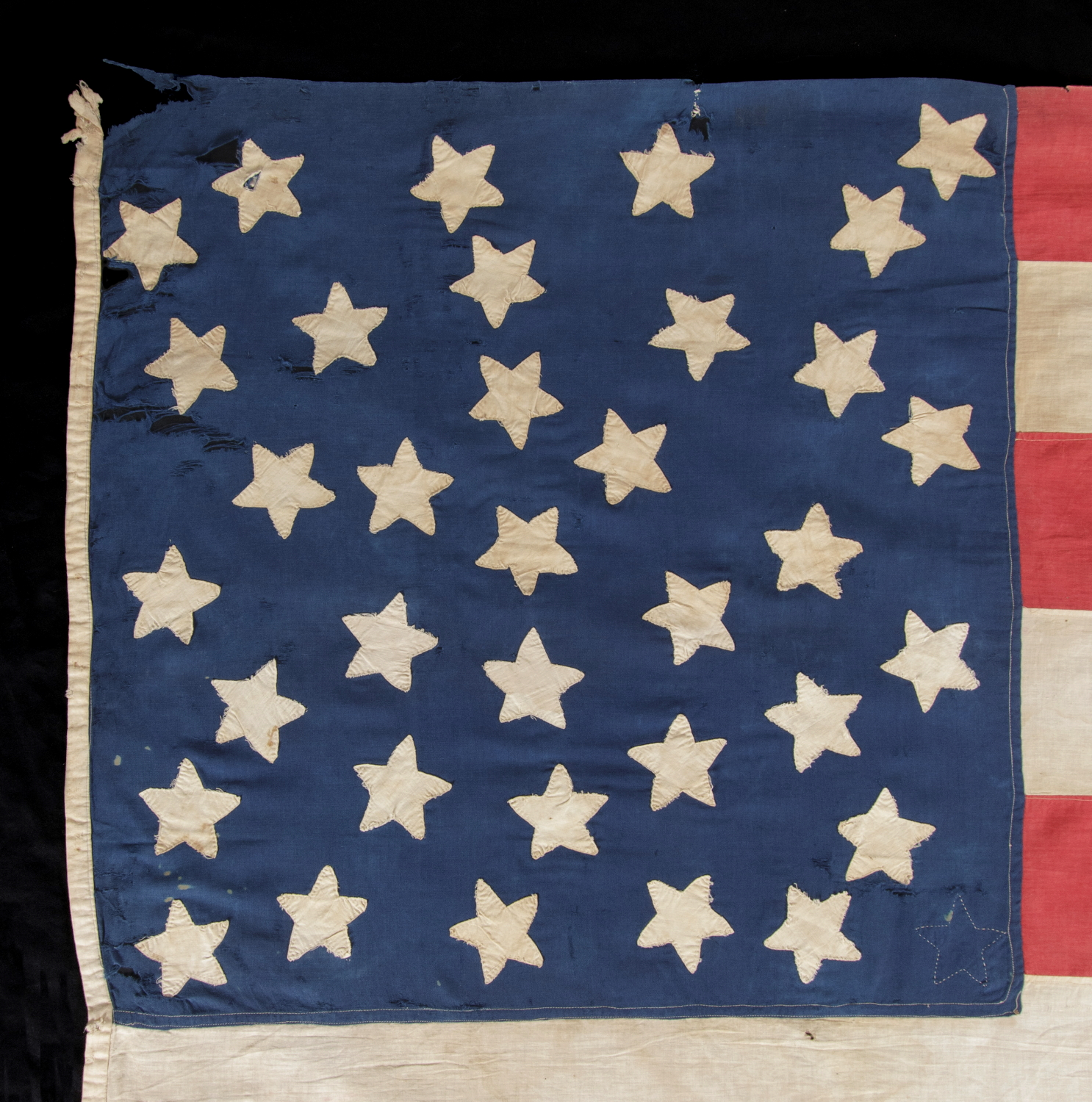 9b88643a75e Jeff Bridgman Antique Flags and Painted Furniture - 35 STARS ON ONE ...