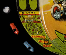 BROWNIE AUTO RACE GAME, JEANNETTE TOY & NOVELTY CO, PENNSYLVANIA, CA 1925