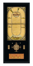 JEROME PARK STEEPLE CHASE GAME IN A BOOK BOXED CASE, WITH AN UNUSUAL, THREE-DIMENTIONAL SPINNER, McLOUGHLIN BROS., NEW YORK, 1885
