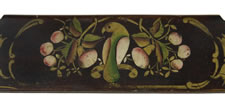 PENNSYLVANIA, PAINT-DECORATED AND GILDED SETTEE WITH TWO DISTLEFINK BIRDS AND 6 HERONS, 1845-1865