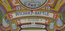 """THE PITCHER'S BATTLE"" PINBALL-STYLE BASEBALL GAME, R.G. KOLLMORGEN, PATENTED JULY 30, 1935"