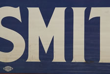 PRINTED COTTON BANNER, MADE FOR THE 1928 PRESIDENTIAL CAMPAIGN OF NEW YORK ASSEMBLYMAN AND SHERRIF TURNED GOVERNOR, AL SMITH, A LEADING PROGRESSIVE MOVEMENT DEMOCRAT AND THE FIRST CATHOLIC TO RUN FOR THE NATION'S HIGHEST OFFICE ON A MAJOR PARTY TICKET