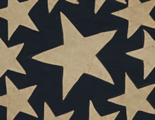 "SPECTACULAR 38 STAR FLAG WITH A VERY RARE VARIATION OF THE ""GREAT STAR"" CONFIGURATION THAT HAS ADDITIONAL STARS BETWEEN EACH ARM, COLORADO STATEHOOD, 1876-1889"