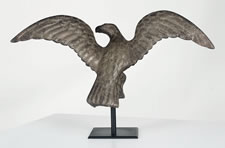 CAST IRON EAGLE, OHIO, SECOND HALF 19TH CENTURY