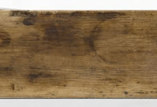 LONG PENNSYLVANIA WATER BENCH WITH TRIPLE-MORTISED CONSTRUCTION AND BEAUTIFULLY SCALLOPED LEGS, CA 1850