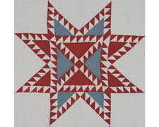 RARE PATRIOTIC QUILT IN THE STAR SPANGLED BANNER PATTERN, ca 1876
