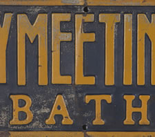 MERRYMEETING CAMP SIGN, BATH, MAINE, 1900-1920