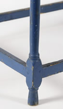 BLUE PAINTED STAND-UP DESK, LIKELY OF MAINE ORIGIN, CA 1840