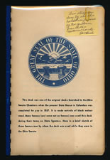 THE OHIO SENATORIAL DESK OF PRESIDENT JAMES GARFIELD, 1859-1861