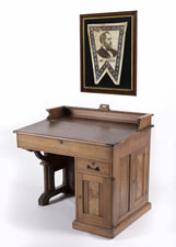 THE OHIO SENATORIAL DESK OF PRESIDENT JAMES GARFIELD, 1859-1861