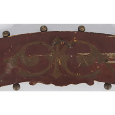 PAINTED AND GILDED DINING ROOM SIGN FROM A STEAMBOAT ON THE FALL RIVER LINE (NEW YORK TO BOSTON), 1847-1870