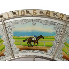 RACE HORSE GAME WHEEL, MADE BY H.C. EVANS, CHICAGO, IL 1920-40