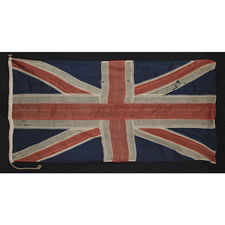 ONE OF THE TWO EARLIEST BRITISH UNION JACKS THAT I HAVE ENCOUNTERED IN PRIVATE HANDS, 1801-1835