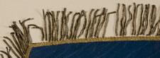 PRE-1875 PENNSYLVANIA STATE STANDARD, HAND-PAINTED CREST ON SILK, BULLION FRINGE