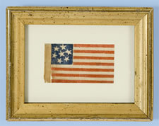 7 STARS, A CONFEDERATE SYMPATHIZER FLAG, CIVIL WAR PERIOD, 1861-1865