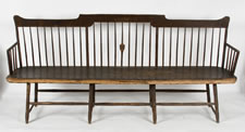 NEW HAMPSHIRE WINDSOR SETTEE, FOUND IN THE PUBLIC LIBRARY IN THE TOWN OF DOVER, CA 1800