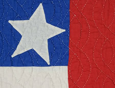 PATRIOTIC FLAG QUILT WITH 48 STARS AND BEAUTIFUL QUILTING, WWI - WWII (1917-1945)