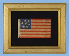 7-STAR CONFEDERATE SYMPATHIZER FLAG, A WAR-PERIOD EXAMPLE IN A SCARCE, LARGE SIZE