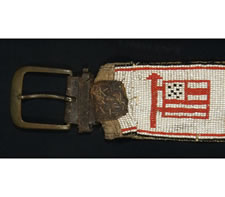 INDIAN BEADWORK BELT, ca 1900