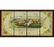 STEEPLE CHASE RACE HORSE BOARD GAME, 1985-1920