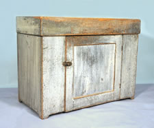 NEW ENGLAND DRY SINK IN GREY PAINT WITH REMOVABLE WELL, POSSIBLE VERMONT ORIGIN