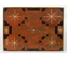 NEW ENGLAND PARCHEESI GAME BOARD TABLE, 1840-60