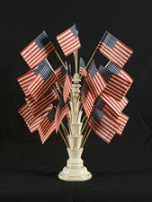 PORCELAIN PARADE FLAG STAND, MADE IN BRITAIN FOR THE AMERICAN MARKET