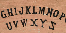 RARE, HAND-PAINTED OUIJA BOARD:
