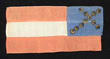 RARE CONFEDERATE BIBLE FLAG with CANTED CROSS OF 11 STARS