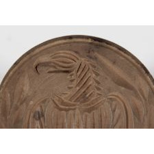 BUTTER STAMP WITH AMERICAN EAGLE MOTIF, MID-19TH CENTURY