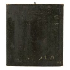FOREST GREEN & MUSTARD GAME BOARD, ca 1840