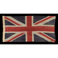 UNION JACK IN A NICE SMALL SCALE, MADE BY WELL KNOWN SCYCO IN TORONTO, ONTARIO, CANADA, 1910-20's