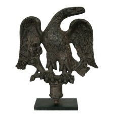 AMERICAN FEDERAL PERIOD CAST IRON EAGLE WITH OUTSTANDING FORM AND SURFACE, PHILADELPHIA, CA 1813