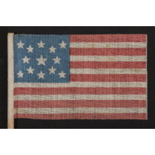 13 STARS, MEDALLION PATTERN, 1876 CENTENNIAL CELEBRATION