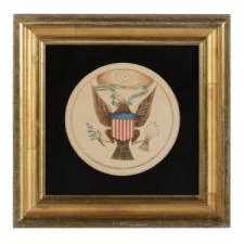 WATERCOLOR PAINTING OF THE GREAT SEAL OF THE UNITED STATES, CA 1820-1850