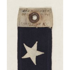 WWII U.S. NAVY COMMISSIONING PENNANT FROM THE U.S.S. CASWELL, TOLLAND-CLASS ATTACK CARGO SHIP, COMMISSIONED DEC. 13, 1944, THAT PARTICIPATED IN OKINAWA IN SUPPORT OF THE 6TH MARINES