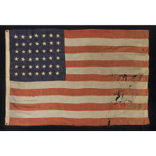 42 STARS, AN UNOFFICIAL STAR COUNT, WASHINGTON STATEHOOD, 1889-1890, MADE BY JOHN CURTAIN IN NEW YORK CITY