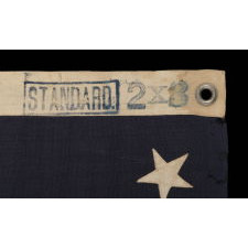 13 STARS ARRANGED IN A MEDALLION PATTERN ON A SMALL-SCALE FLAG OF THE 1895-1926 ERA