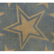 31 STARS, PRE-CIVIL WAR (1850-1858), CALIFORNIA STATEHOOD, MEDALLION CONFIGURATION WITH A LARGE, HALOED CENTER STAR