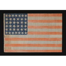 38 LARGE STARS WITH SCATTERED POSITIONING ON A LARGE SCALE PARADE FLAG, COLORADO STATEHOOD, 1876-1889