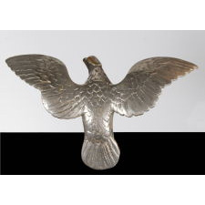 EAGLE FLAG POLE FINIAL WITH GREAT FORM AND SURFACE, 1910-1930