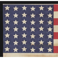 42 STARS IN A WAVE CONFIGURATION OF LINEAL COLUMNS, NEVER AN OFFICIAL STAR COUNT, 1889-1890, WASHINGTON STATEHOOD