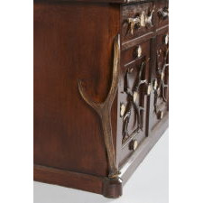 MAGIFICENT BLACK FOREST ANTLER GUN CABINET, LATE 19TH CENTURY