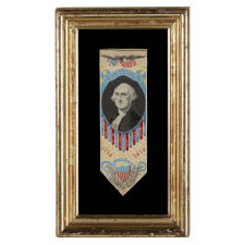 1876 CENTENNIAL STEVENSGRAPH BOOK MARK WITH AN IMAGE OF GEORGE WASHINGTON, MADE BY PHOENIX MANUFACTURING CO., PATTERSON, NJ
