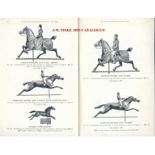 EXCEPTIONAL HORSE AND HOOP WEATHERVANE WITH EXCELLENT EARLY SURFACE, MADE BY J.W. FISKE IN NEW YORK CITY, ca 1875-1890's