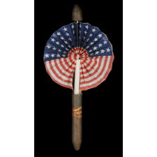 PATRIOTIC CIGAR FAN, ca 1905-1920's