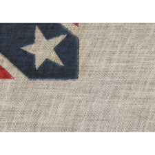CONFEDERATE FLAG IN THE THIRD NATIONAL FORMAT, PRODUCED IN THE EARLY PART OF THE REUNION ERA, LIKELY BETWEEN 1890 AND 1913