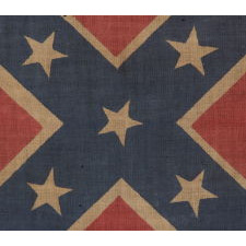 CONFEDERATE PARADE FLAG IN THE SOUTHERN CROSS / BATTLE FLAG FORMAT, REUNION PERIOD, 1910-1920's
